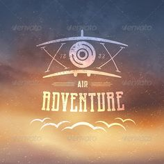 Retro Airplane Badge ...  adventure, aircraft, airplane, artwork, background elements, badge, banner, card, cloud, concept, decoration, design, emotion, grunge, illustration, label, modern, poster, retro, sky, symbol, template, texture, transport, typographic, vector, vintage