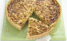 Sticky Onion & Cheddar Quiche: Very nice. I subbed gruyere for cheddar and I used store-bought tart dough. An easy and delicious lunch. Would be a great brunch item too. Note: cook on bottom rack of oven. Bbc Good Food Recipes, Cooking Recipes, Uk Recipes, Quiche Recipes, Quiche Ideas, Savoury Recipes, Quiche Lorraine, Afternoon Tea, Brunch