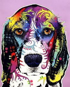 Photoshop dogs/grayscale/posterize?? or use cut out....print on cardstock... use ziplock baggie-paint-brayer printing on top.