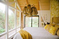 Hawaiian treehouse bedroom