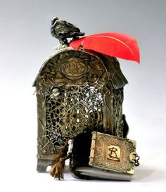 Poe's Reliquary Box Exhibition Piece by cassioppea on Etsy, $5250.00