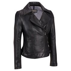 Plus Size Wilsons Leather Zipper Collar Leather Cycle Jacket Was: $800.00                     Now: $359.99