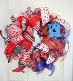 House Divided Sports Wreath AlabamaAuburn by ShadesOfTheSeasons, $55.00
