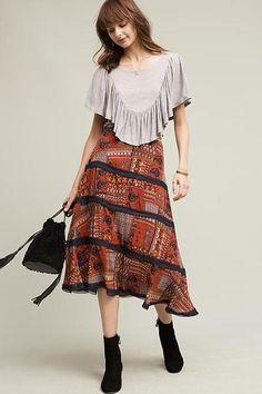Modest Patchwork Skirt
