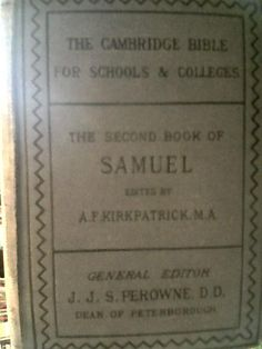 Book Of SAMUEL 1889 The Cambridge Bibile For Schools Collehes ARMENIA BOOK ANTIQUE $618  #book #etsy #armenia #http://www.etsy.com/people/modeldesign1