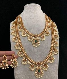 10 Places to Shop Artificial Jewellery Online - shop artificial jewellery online 18 dhruvam - Antique Jewellery Designs, Gold Jewellery Design, Gold Jewelry, Gold Necklaces, Tiffany Jewelry, Gold Bangles, Pearl Jewelry, Gold Earrings, Fine Jewelry