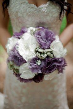 DIY Fabric Flower Bouquet finally found one I like ... girls get ready