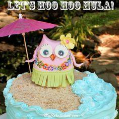 Learn to make this adorable Hoo Hoo Hula owl ;0)  -- Free blog tutorial from MyCakeSchool.com.