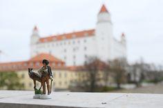 Handmade Chess set, hand painted, pewter chess set in Bratislava castle ( Slovakia )