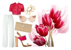 """Tulip"" by rita-coppola on Polyvore featuring moda, T By Alexander Wang, Linda Farrow, Nina Ricci e Dsquared2"