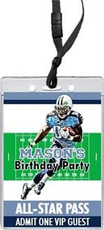 Tennessee Titans Football Field VIP Pass Invitations from PrintVilla.com