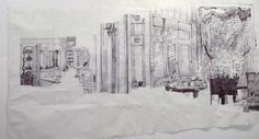 Dawn Clements. 85x236 inches. Image courtesy of the artist and Pierogi Gallery