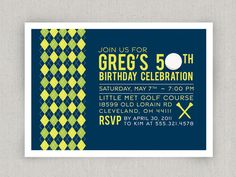 Golf Party Invitation. $18.00, via Etsy.