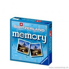 Schweiz Memory / Swiss Memory with Swiss attractions. Very exciting and for the whole family. Museum Shop, Very Excited, Magazine Rack, Baby, Memories, Games, Cover, Books, Switzerland