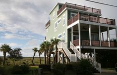 House vacation rental in Folly Beach from VRBO.com! This one is it girls! Getting the rental agreement!
