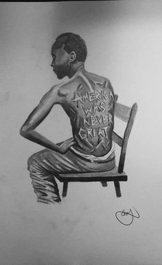 Post: When was America Great?: When was America Great? Black Love Art, Black Girl Art, Black Is Beautiful, Black Girl Magic, Desenho New School, Protest Art, Political Art, Black History Facts, Power To The People