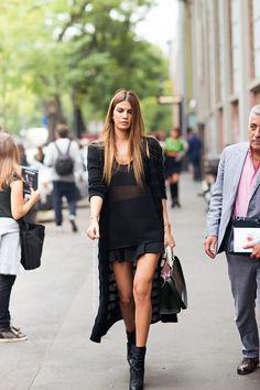 "the-streetstyle: ""Bianca Brandolini "" www.fashionclue.net | Fashion Tumblr, Street Wear & Outfits"