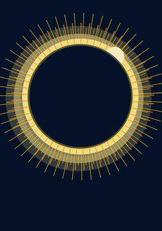Solar Eclipse Art Print #eclipse2015