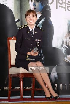 This photo taken on July 3, 2013 shows South Korean actress Han Hyo-joo attending 'Cold Eyes' film premiere in Seoul Metropolitan Police Station. REPUBLIC