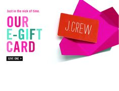 Animated gift card! Gif newlsetter, email design