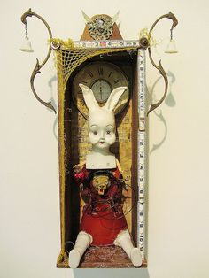 I Must Become The Lionhearted Girl - 2015 mixed media assemblage by Dianne Hoffman http://www.diannehoffman.net