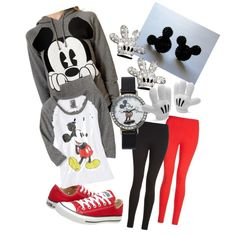 Mickey Mouse outfit, fall outfit for Disneyland made by ME :)
