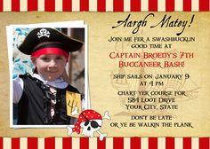 Pirate Birthday Invitation Printable. $15.00, via Etsy.