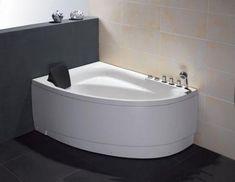 Buy EAGO AM161-L / AM161-R - 5' Single Person Corner White Acrylic Whirlpool Bath Tub - Drain on Left or Right