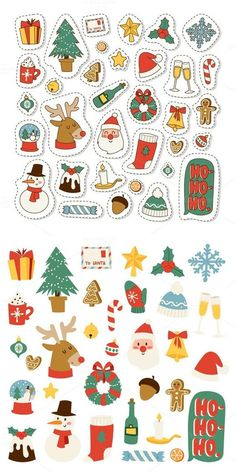 7 Plantillas para pegatinas de Navidad: imprimir y colorear With these stickers you will have the kids tangled for hours and hours! Christmas Doodles, Christmas Icons, Christmas Drawing, Christmas Mood, Christmas Design, Christmas Crafts, Christmas Decorations, Vector Christmas, Xmas
