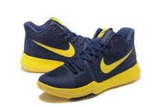Purchase Midnight Navy Bright Maize Kyrie 3 III Mens Basketball Shoes 2018  On Line