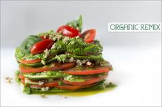 Raw Vegan Lasagna:  http://organicremix.com/2012/12/raw-vegan-lasagna/