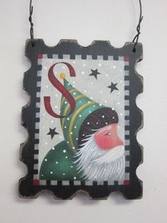 """""""Ornament of the Month""""...Forever Santa Stamp!"""