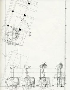 Architectural Drawings, Models, Photos, etc. Architecture Concept Drawings, Architecture Graphics, Architecture Plan, Architecture Details, Morphosis Architects, Autocad, Detailed Drawings, Technical Drawings, Design Research