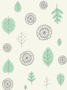 #fabric #textiles  {via woonwinkel A View of the Woods Wallpaper}