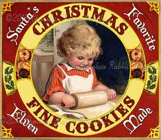 Customisable victorian christmas girl gifts - t-shirts, posters, mugs, accessories and more from Zazzle. Choose your favourite victorian christmas girl gift from thousands of available products. Vintage Christmas Images, Old Christmas, Old Fashioned Christmas, Victorian Christmas, Vintage Holiday, Christmas Pictures, Christmas Greetings, Christmas Cookies, Christmas Baking