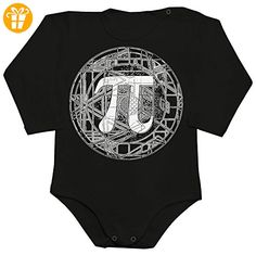 Beautiful Detailed PI Circle Design Baby Romper Long Sleeve Bodysuit Extra Large - Baby bodys baby einteiler baby stampler (*Partner-Link)