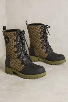 Matt Bernson Ketchum Quilted Rain Boots Moss 9.5 Boots #AnthroFave