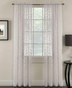 "Miller Curtains Chickadee 48"" x 84"" Sheer Curtain Panel. Macy's. $15/panel"