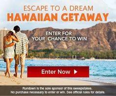 WIN YOUR DREAM HAWAIIAN GETAWAY!!!   I SO WANT TO WIN THIS!!!  ENTER HERE~http://couponshopaholic.net/?p=12344