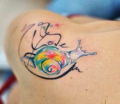 Slug tattoo by Aleksandra Katsan