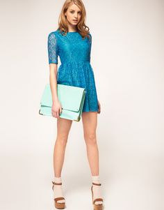 Mint leather portfolio clutch - ASOS...great for work!