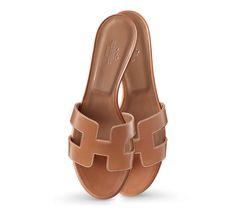 Oasis Sandales pour femme en veau, semelle en cuir, talon bottier (cambrure : 5 cm)