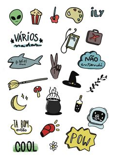 Printable Stickers, Cute Stickers, Planner Stickers, Tumblr Wallpaper, Nature Wallpaper, Planner Tumblr, Bujo Doodles, Cute Patches, Art Diary