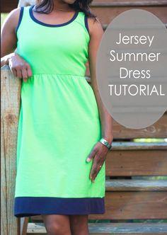 Jersey-Kleid für Damen nähen
