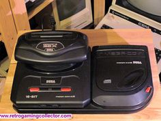 Sega Mega Drive II (Genesis 2) and Mega CD II and 32X retro games console