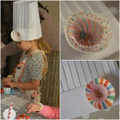 hats at a Belle & Boo baking party from www.lattemamma.fi