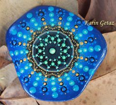 bemalte Steinen Felsen Mandala Stein Meditation von KarinGetazArt