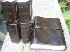 One handsome dark leather journal 5X7 Rustic от craftyleather