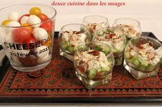 Verrines Fourme d'Ambert et concombre