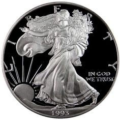 1993 US American Silver Eagle Dollar 1oz .999 Fine Silver NGC MS69